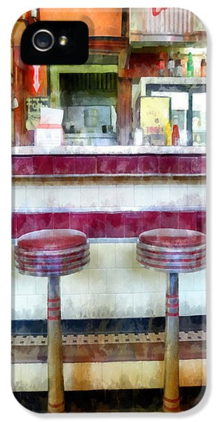 Stools iPhone 5 Cases - Diner Phone Case iPhone 5 Case by Edward Fielding