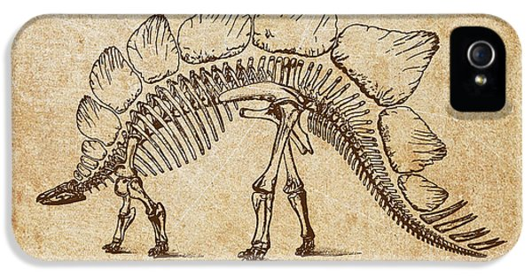 Dinosaur Stegosaurus Ungulatus IPhone 5 / 5s Case by Aged Pixel