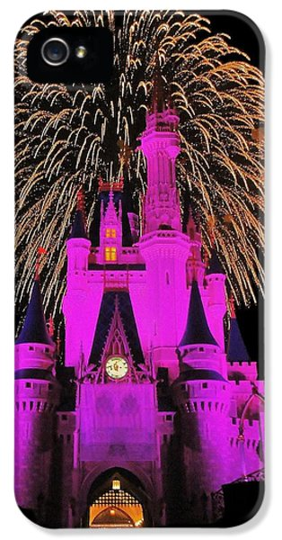 Firework iPhone 5 Cases - Disney Magic iPhone 5 Case by Benjamin Yeager