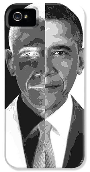 President Obama iPhone 5 Cases - Divider In Chief iPhone 5 Case by Cristophers Dream Artistry
