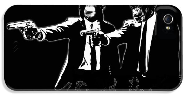 Suit iPhone 5 Cases - Divine Monkey Intervention - Pulp Fiction iPhone 5 Case by Nicklas Gustafsson