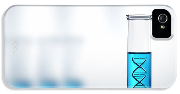 Twist iPhone 5 Cases - DNA research or testing in a laboratory iPhone 5 Case by Johan Swanepoel