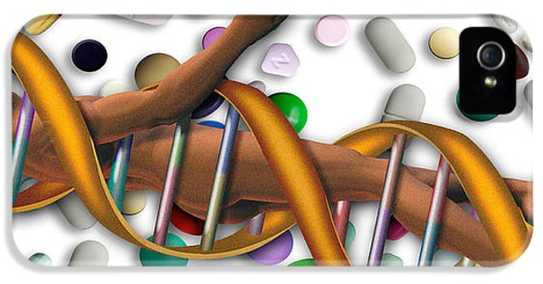 Complexity iPhone 5 Cases - Dna Surrounded By Pills iPhone 5 Case by Panoramic Images