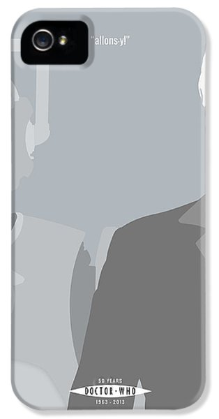 Suit iPhone 5 Cases - Doctor Who 50th Anniversary Poster Set Tenth Doctor iPhone 5 Case by Jeff Bell