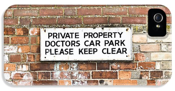 Ill iPhone 5 Cases - Doctors car park iPhone 5 Case by Tom Gowanlock