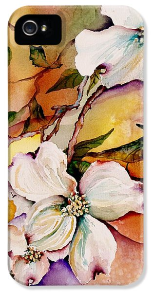 Bee iPhone 5 Cases - Dogwood in Spring Colors iPhone 5 Case by Lil Taylor