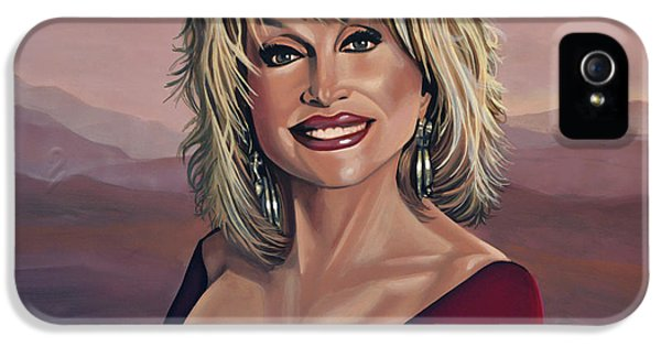 Steel iPhone 5 Cases - Dolly Parton 2 iPhone 5 Case by Paul  Meijering