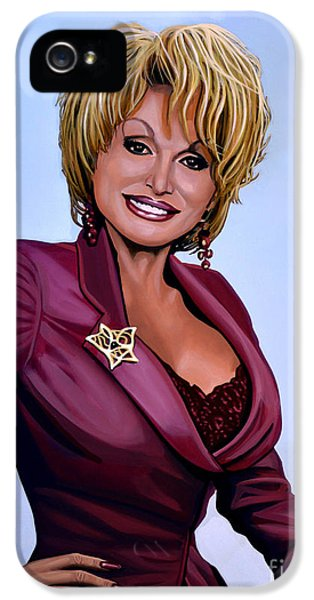 Steel iPhone 5 Cases - Dolly Parton iPhone 5 Case by Paul  Meijering