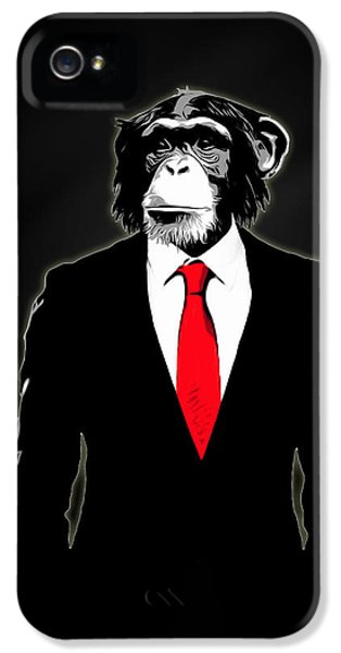Suit iPhone 5 Cases - Domesticated Monkey iPhone 5 Case by Nicklas Gustafsson