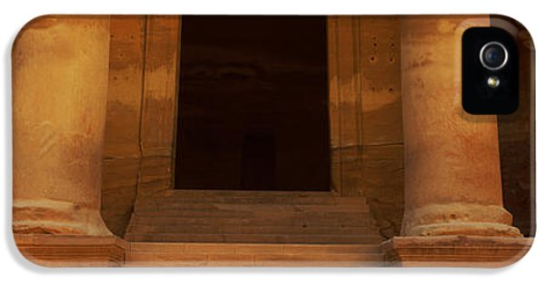 Al-khazneh iPhone 5 Cases - Doorway To The Treasury, Wadi Musa iPhone 5 Case by Panoramic Images