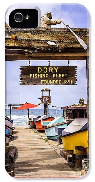 Balboa iPhone 5 Cases - Dory Fishing Fleet Market Newport Beach California iPhone 5 Case by Paul Velgos