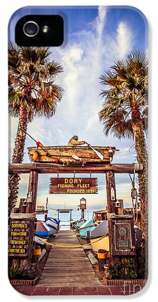 Newport Beach iPhone 5 Cases - Dory Fishing Fleet Market Picture Newport Beach iPhone 5 Case by Paul Velgos