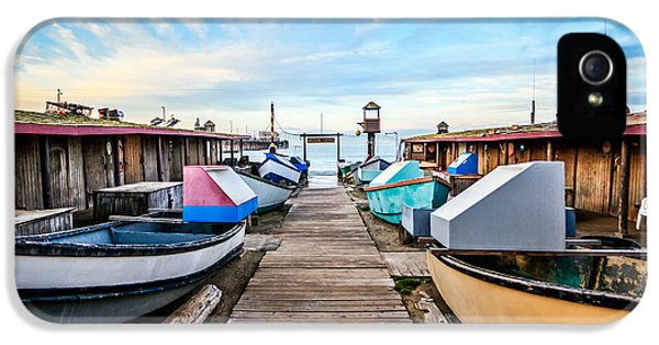 Orange County iPhone 5 Cases - Dory Fishing Fleet Newport Beach California iPhone 5 Case by Paul Velgos