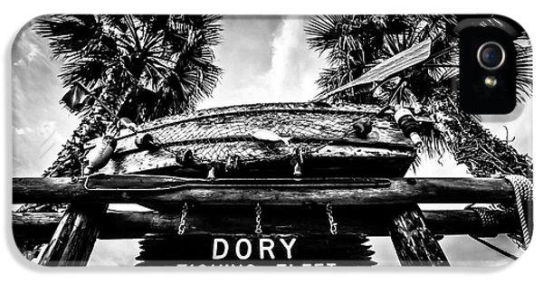 Newport Beach iPhone 5 Cases - Dory Fishing Fleet Sign Picture in Newport Beach iPhone 5 Case by Paul Velgos