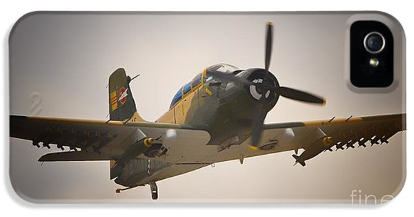 Mcdonnell Douglas iPhone 5 Cases - Douglas A-1 Skyraider iPhone 5 Case by Gus McCrea