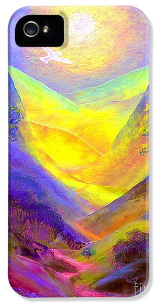 Glowing iPhone 5 Cases - Dove Valley iPhone 5 Case by Jane Small