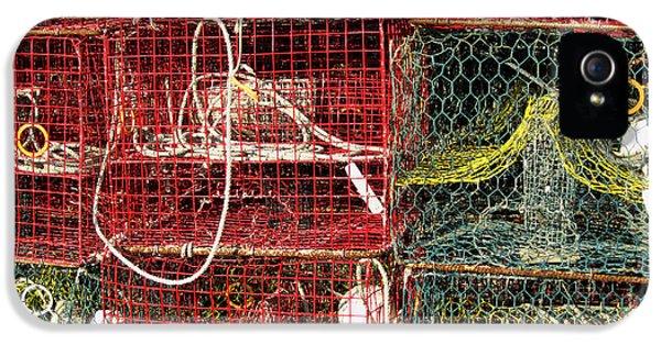 Crabbing iPhone 5 Cases - Down East Crab Pots iPhone 5 Case by Karen Rhodes