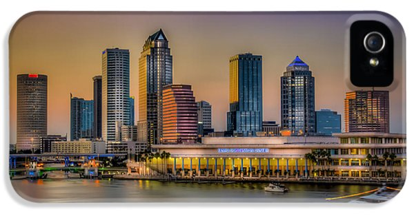 Hospital iPhone 5 Cases - Downtown Tampa iPhone 5 Case by Marvin Spates