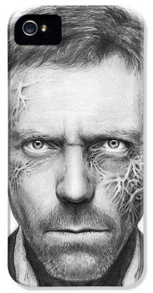 Tv Show iPhone 5 Cases - Dr. Gregory House - House MD iPhone 5 Case by Olga Shvartsur