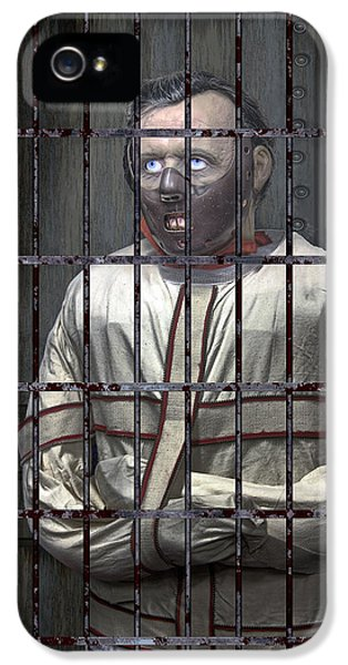 Insanity iPhone 5 Cases - Dr. Lecter Restrained iPhone 5 Case by Daniel Hagerman