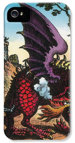 Conducting iPhone 5 Cases - Dragon Of Wantley, 16th Century iPhone 5 Case by Photo Researchers