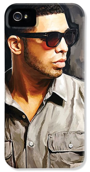 Hip Hop iPhone 5 Cases - Drake Artwork 2 iPhone 5 Case by Sheraz A