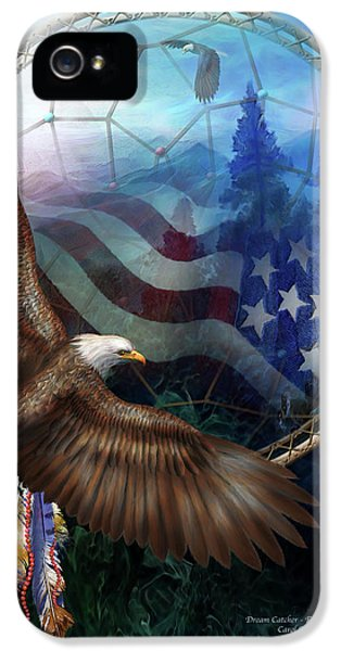 Dream Catcher - Freedom's Flight IPhone 5 / 5s Case by Carol Cavalaris