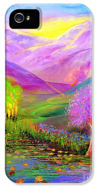 Flowering iPhone 5 Cases - Dream Lake iPhone 5 Case by Jane Small