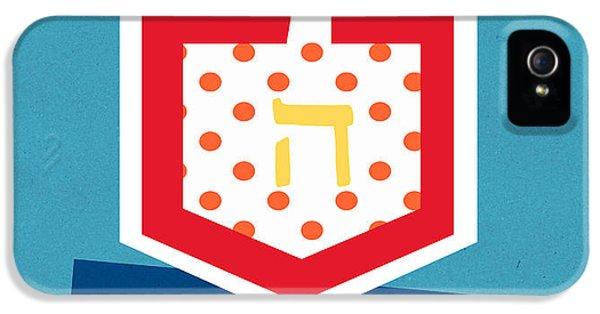 Hanukkah Card iPhone 5 Cases - Dreidels iPhone 5 Case by Linda Woods