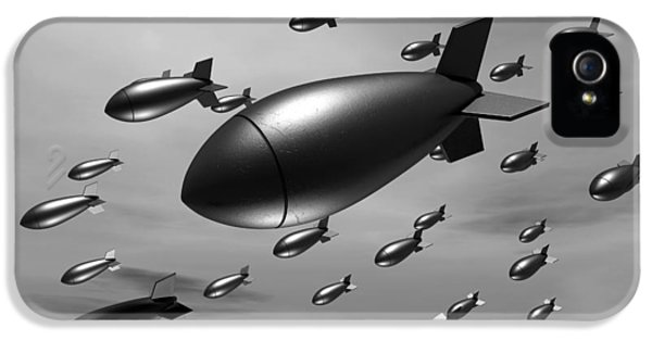 Ammunition iPhone 5 Cases - Dropping Bombs iPhone 5 Case by Allan Swart