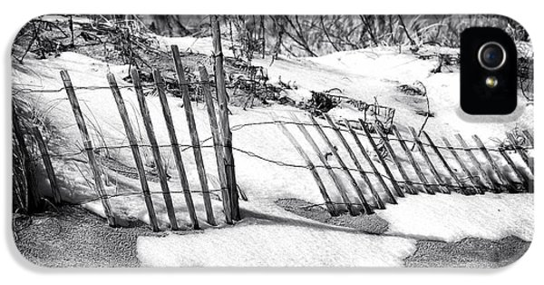 Down In The Garden iPhone 5 Cases - Dune in Winter iPhone 5 Case by John Rizzuto