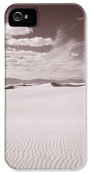 National Monuments iPhone 5 Cases - Dunes, White Sands, New Mexico, Usa iPhone 5 Case by Panoramic Images