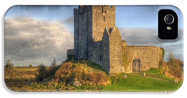 Dramatic Skies iPhone 5 Cases - Dunguaire Castle with Dramatic Sky Kinvara Galway Ireland iPhone 5 Case by Juli Scalzi