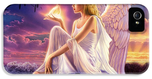 Dove iPhone 5 Cases - Dusk Angels Dusk Variant 1 iPhone 5 Case by Andrew Farley