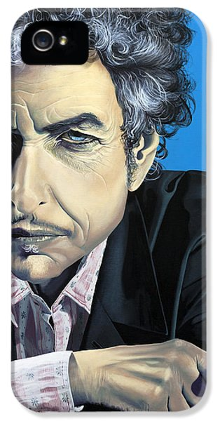 Music Legend iPhone 5 Cases - Dylan iPhone 5 Case by Kelly Jade King