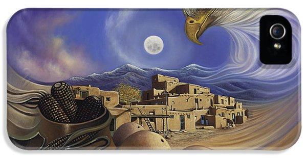 Pueblo iPhone 5 Cases - Dynamic Taos Ill iPhone 5 Case by Ricardo Chavez-Mendez