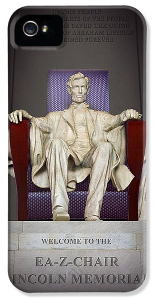National Monuments iPhone 5 Cases - Ea-Z-Chair Lincoln Memorial 2 iPhone 5 Case by Mike McGlothlen