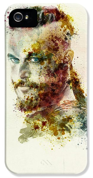 Scandinavian iPhone 5 Cases - Earl Ragnar Lothbrok in watercolor iPhone 5 Case by Marian Voicu