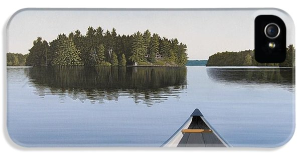 Water iPhone 5 Cases - Early Evening Paddle  iPhone 5 Case by Kenneth M  Kirsch