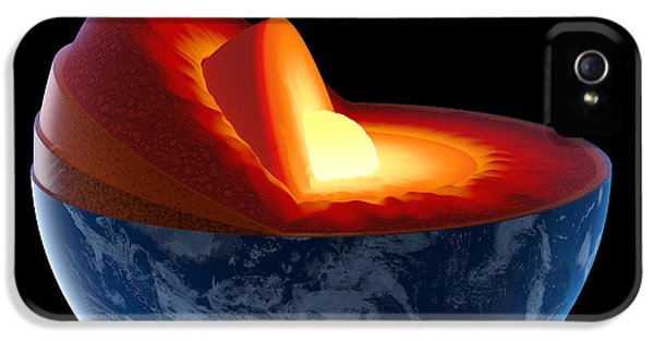 Burn iPhone 5 Cases - Earth core structure - isolated iPhone 5 Case by Johan Swanepoel