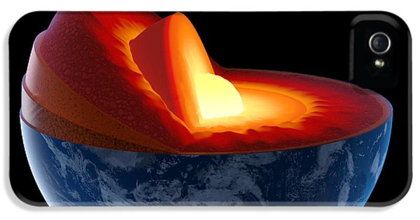 Burnt iPhone 5 Cases - Earth core structure - isolated iPhone 5 Case by Johan Swanepoel