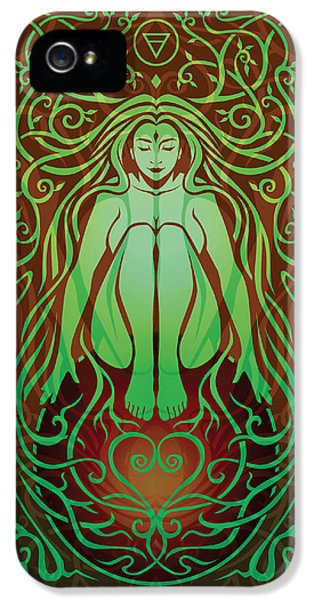Gaia iPhone 5 Cases - Earth Spirit v.2 iPhone 5 Case by Cristina McAllister