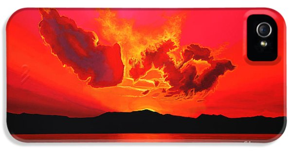 Pink Sunrise iPhone 5 Cases - Earth Sunset iPhone 5 Case by Paul  Meijering