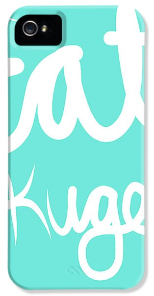Judaica iPhone 5 Cases - Eat Kugel - Blue and White iPhone 5 Case by Linda Woods