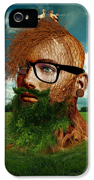 Eco iPhone 5 Cases - Eco Hipster iPhone 5 Case by Marian Voicu