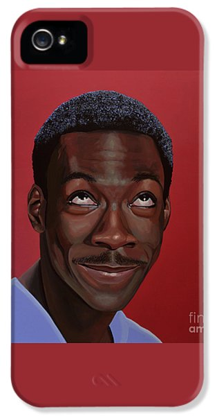 Eddie Murphy Painting IPhone 5 / 5s Case by Paul Meijering