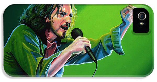 Edward iPhone 5 Cases - Eddie Vedder of Pearl Jam iPhone 5 Case by Paul Meijering