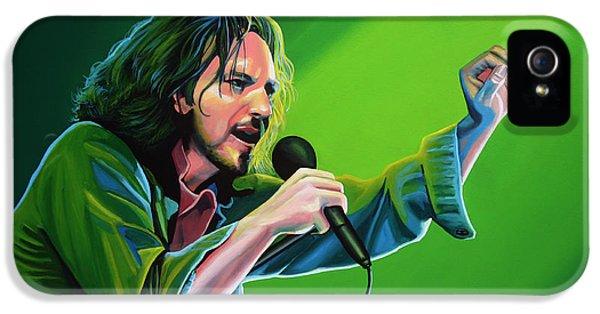 Eddie Vedder Of Pearl Jam IPhone 5 / 5s Case by Paul Meijering