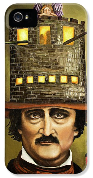 Brick iPhone 5 Cases - Edgar Allan Poe iPhone 5 Case by Leah Saulnier The Painting Maniac