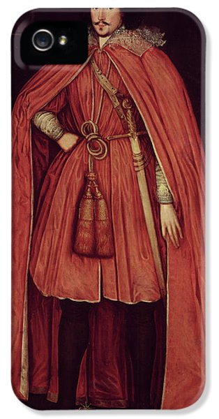 Edward iPhone 5 Cases - Edward Herbert, Lord Herbert Of Cherbury, C.1604 42 Oil On Canvas iPhone 5 Case by Robert Peake
